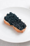Bread with caviar Royalty Free Stock Photos