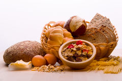 Bread, Cereal Plant, Pasta.Bread, Cereal Plant, Stock Photos