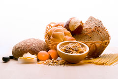 Bread, Cereal Plant, Pasta.Bread, Cereal Plant, Stock Image