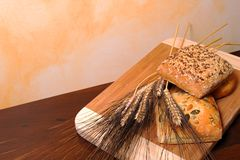 Bread and cereals Royalty Free Stock Photography