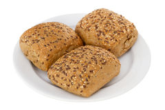 Bread with cereals. On the plate Royalty Free Stock Photo