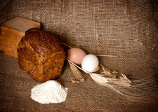 Bread, cereals and flour Royalty Free Stock Photo
