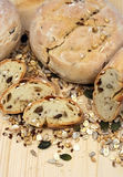 Bread, cereals and seeds Royalty Free Stock Images