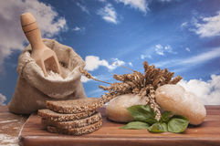 Bread with cereals and vegetables Royalty Free Stock Image