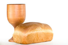 Bread and chalice. Stock Image