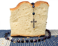 Bread with chaplet Royalty Free Stock Photography