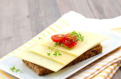Bread with cheese Stock Photos