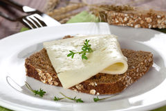 Bread with cheese Royalty Free Stock Photo