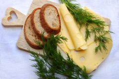 Bread and cheese Royalty Free Stock Photo