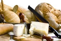 Bread and Cheese 5 Stock Photos