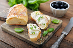 Bread with cheese Stock Photography