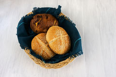 Bread, cheese bread, seed bread Stock Photography