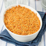 Bread and Cheese Crumble Royalty Free Stock Photos