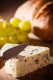 Bread & Cheese With Grapes Royalty Free Stock Photos