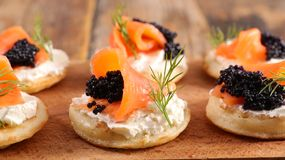 Assorted canape and toast royalty free stock photo