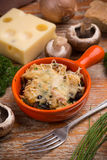 Bread and cheese souffle stock image