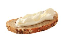 Bread and cheese spread Stock Images