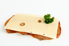 Bread with cheese Stock Images