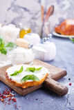 Bread with cheese Royalty Free Stock Images