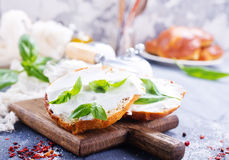 Bread with cheese Royalty Free Stock Photos