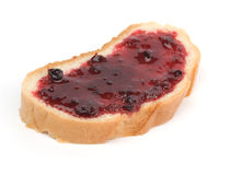 Bread and cherry marmalade Royalty Free Stock Image
