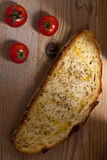 Bread with Cherry Tomatoes Stock Photos