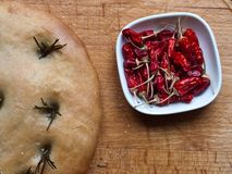 Bread and Chillies Stock Image