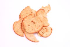 Bread chips Royalty Free Stock Images