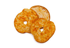 Bread chips royalty free stock photography