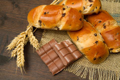 Bread with chocolate Royalty Free Stock Photography