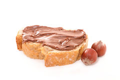Bread with chocolate cream Royalty Free Stock Photo