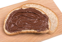 Bread And Chocolate Cream Stock Image