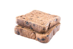 Bread chocolate duo overlay Royalty Free Stock Images