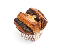 Bread chocolate muffin cakes Stock Images