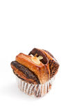 Bread chocolate muffin cakes Stock Image