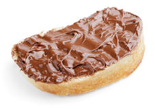 Bread with chocolate spread Stock Image