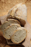 bread on chopping board Royalty Free Stock Photo