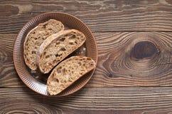 Bread ciabatta sliced Royalty Free Stock Photos