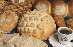Bread and coffe Royalty Free Stock Photography