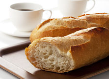 Bread and coffee Stock Image