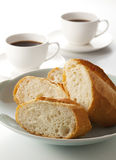 Bread and coffee Royalty Free Stock Image