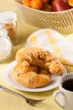 Bread and coffee. Breakfast with bread and coffee royalty free stock images