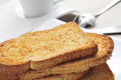 Bread and coffee Stock Photography