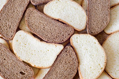 Bread collage. The picture presented pieces of bread Royalty Free Stock Photo