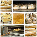 Bread collage. A collage about bread theme Stock Images
