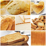 Bread collage. A collage of different kinds of bread Royalty Free Stock Photography