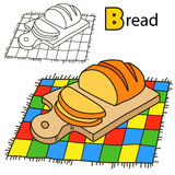 Bread. Coloring book page Royalty Free Stock Images