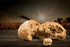 Bread. Communion wine food bun sharing bible Royalty Free Stock Images