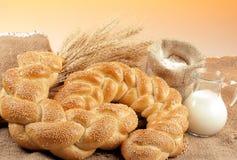 Bread composition Stock Photos