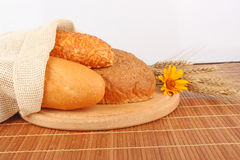 Bread composition Stock Images